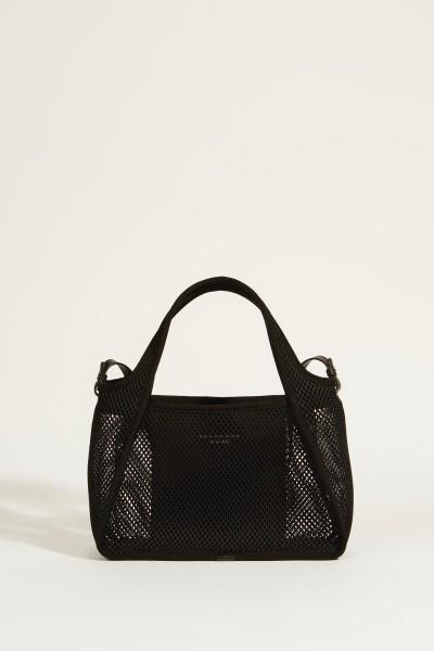 Tasche aus Mesh 'Cross Body Bag' Schwarz