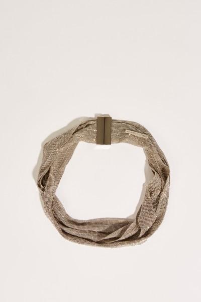 Halskette mit Perlenverzierung Silber