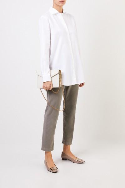 Artigiano Klassische Baumwoll-Bluse 'Meghan' Weiß