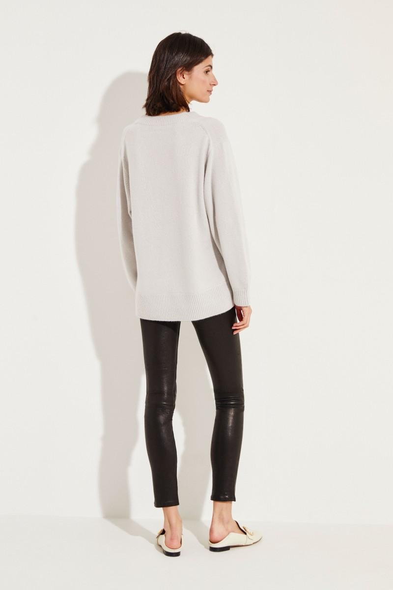 Oversize Cashmere-Pullover Grau