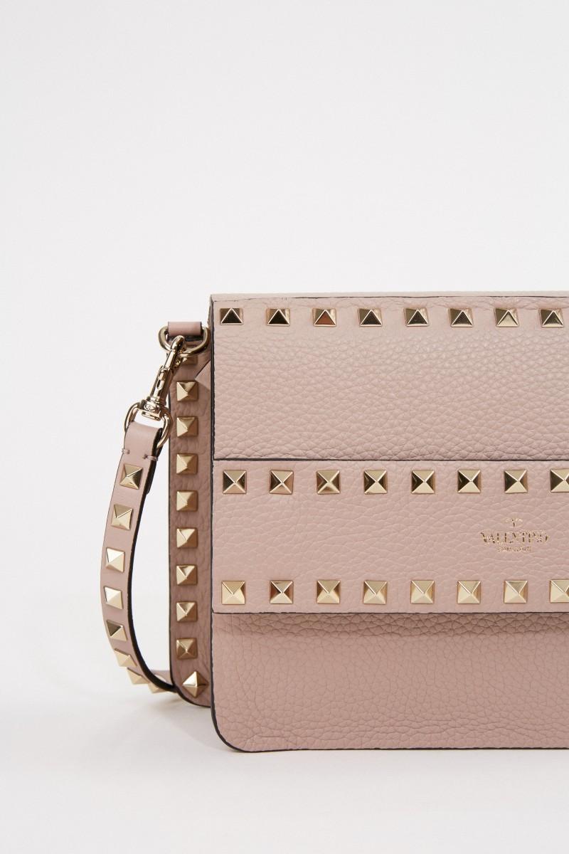 Valentino Clutch mit Nieten-Details Rosé