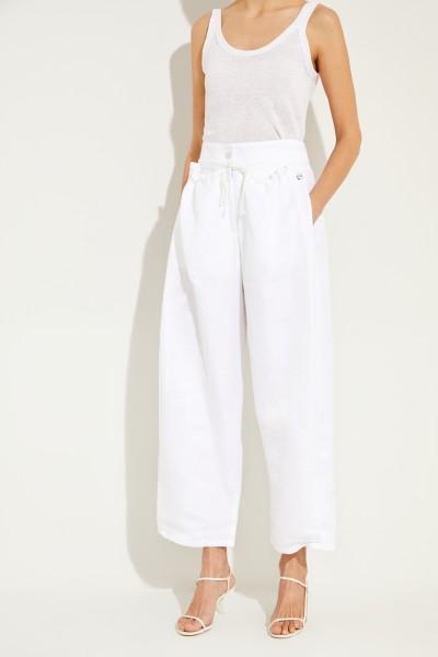Hose mit Kordel-Detail 'Presley'  Weiß