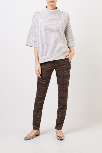 Fabiana Filippi Wool pullover with stand-up collar Light Grey