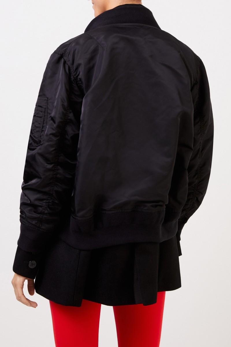 sortie de gros les mieux notés dernier juste prix Coat with integrated bomber jacket Black