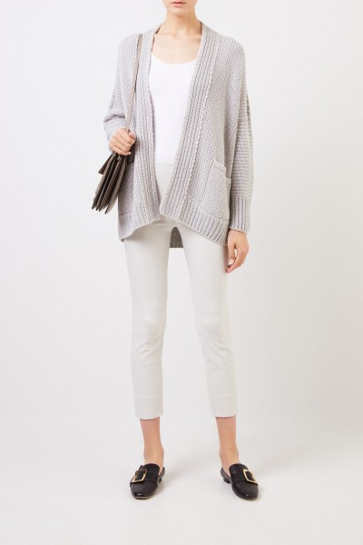 Stretch pants with slit detail light Grey