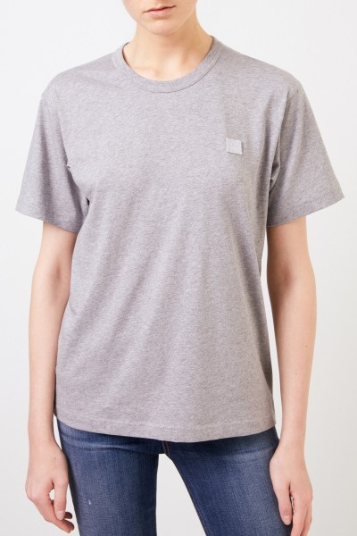 Acne Studios T-Shirt 'Nash Face' Grau