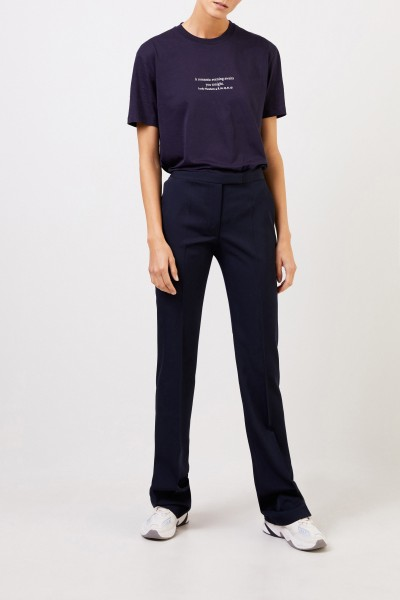Wool trousers Navy Blue