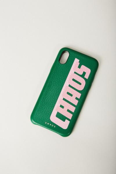Iphone Case X mit rückseitigem Logodruck Khaki