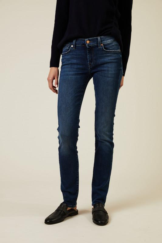 Midrise Jeans 'Roxanne' Mittelblau