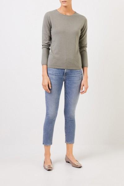 Uzwei Cashmere-Pullover mit R-Neck Salbei