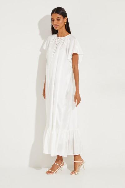Seidenkleid 'Eva' mit Gürtel Weiß