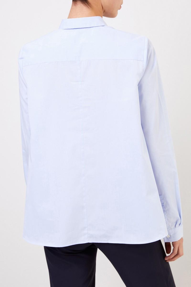 Artigiano Klassische Baumwoll-Bluse 'Teresa' Hellblau
