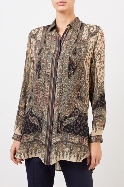 Etro Silk blouse with print Multi