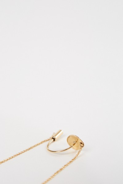 Delfina Delettrez Ohrring 'ABC Chain' mit Diamant Gold