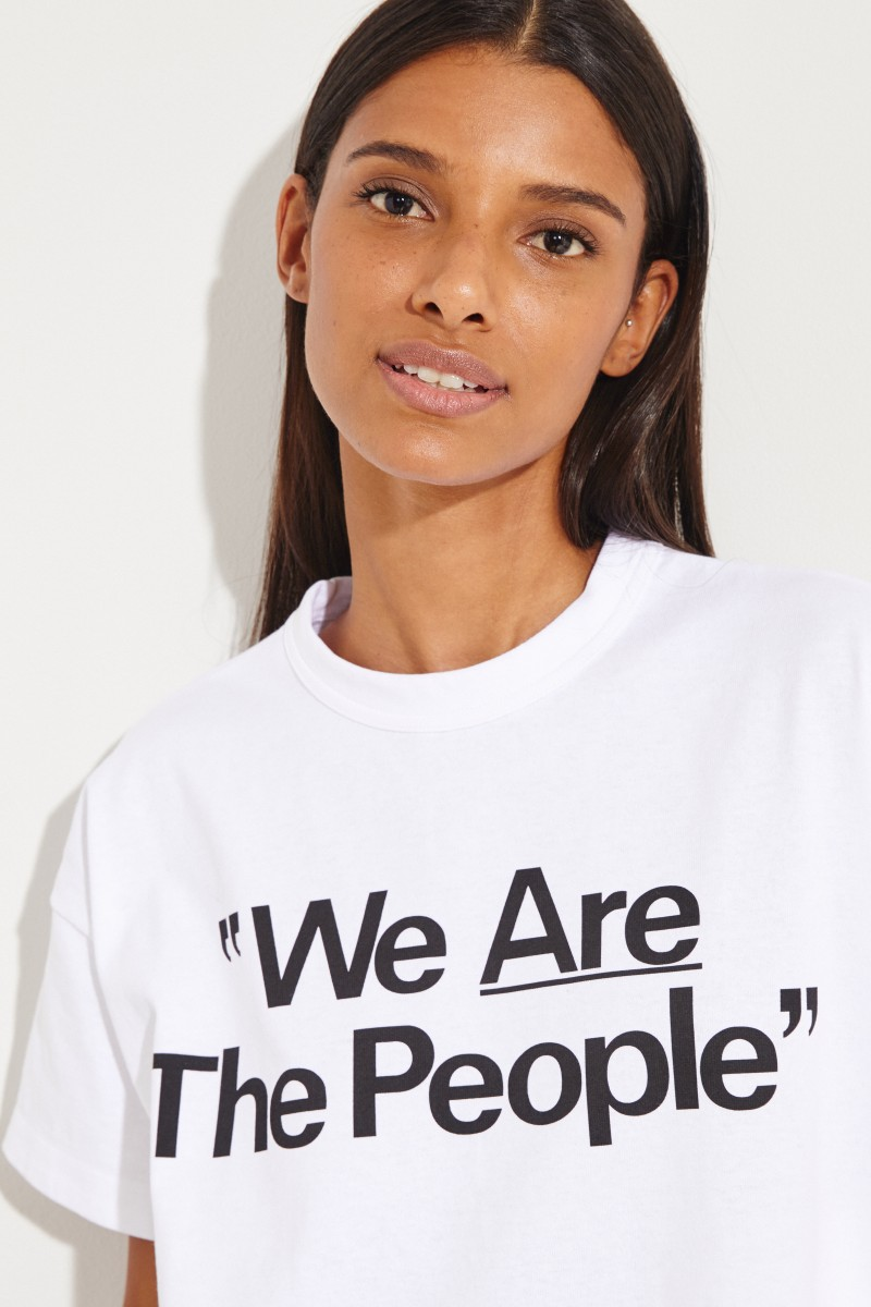 T-Shirt 'We are the People' Weiß