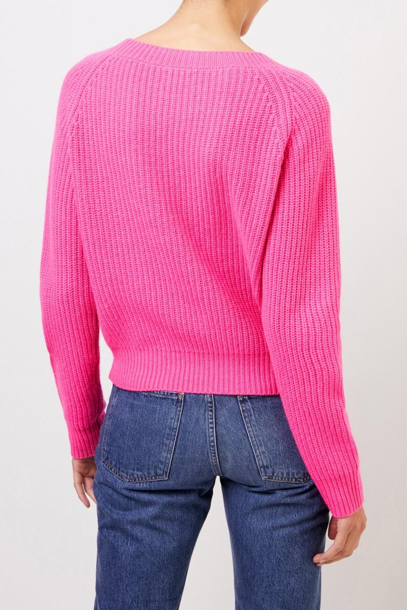 UZWEI Rippstrick-Cashmere-Pullover Pink