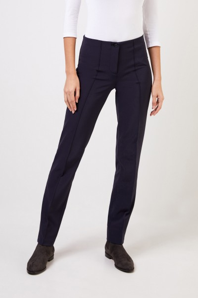 Cambio Elastische Hose 'Ros Straight Long' Marineblau