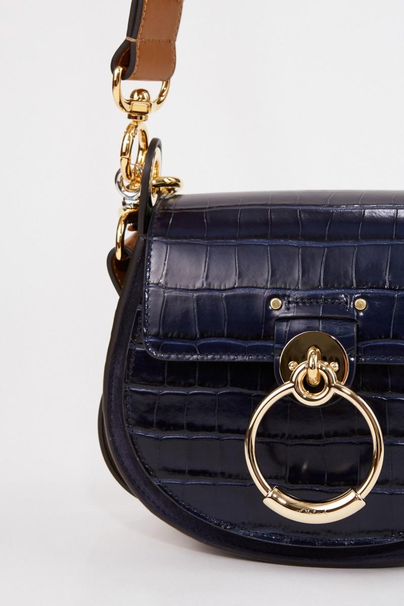 Chloé Umhängetasche 'Tess Croco Small' Full Blue