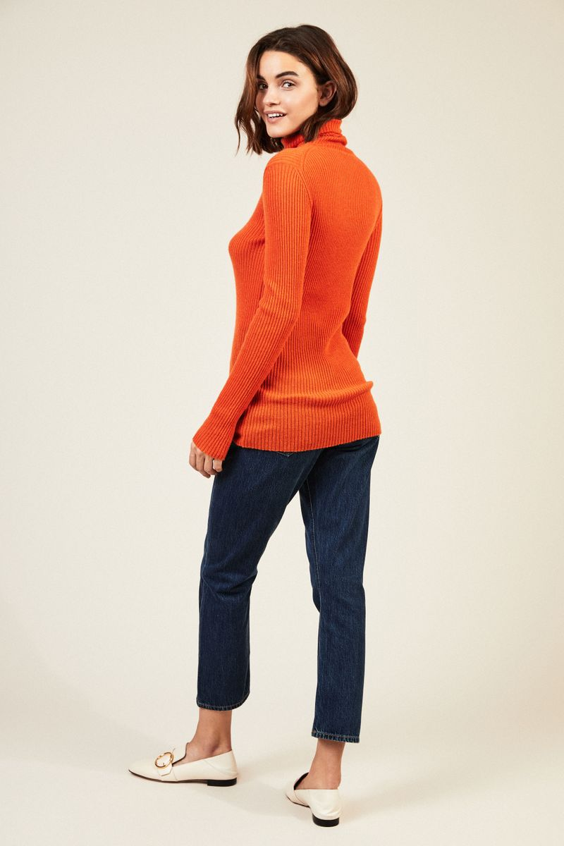 Cashmere-Rollkragenpullover 'Lawrence' Orange