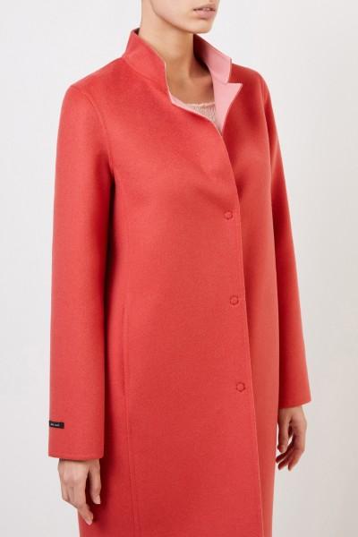 Manzoni 24 Cashmere wool coat Coral
