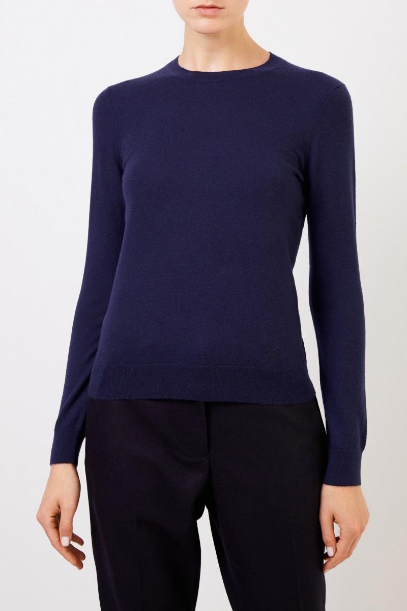 Tory Burch Cashmere-Pullover 'Iberia' mit Knopfdetails Marineblau