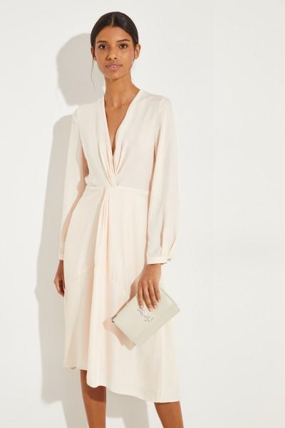 Kleid mit frontaler Raffung Rosé