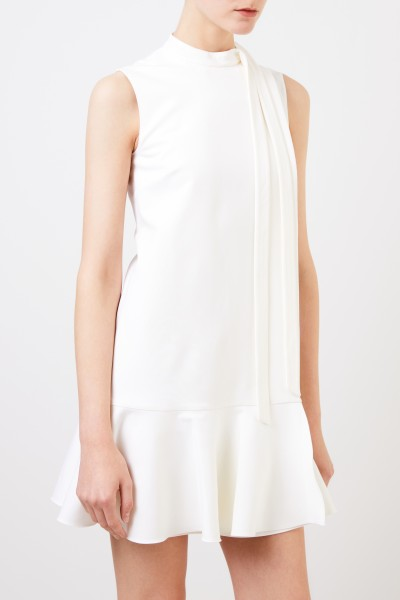 Valentino Cocktail dress with flounce seam Cream