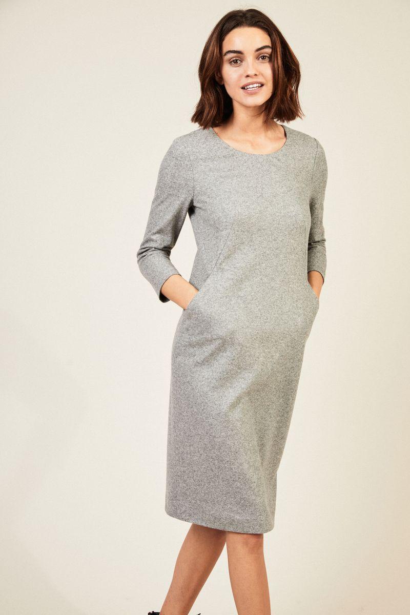Klassisches Wollkleid Grau