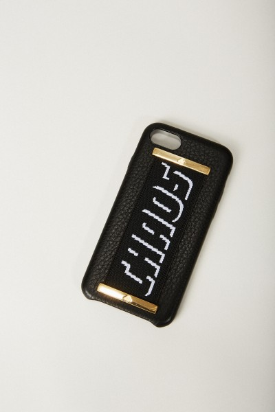 Iphone 7/8 Case 'Hand Hug' Schwarz