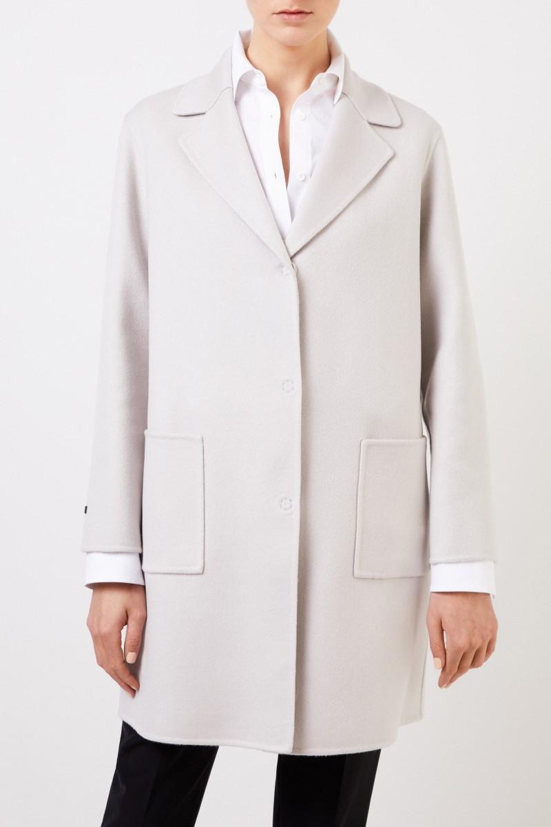 Manzoni 24 Klassischer Cashmere-Mantel Grau