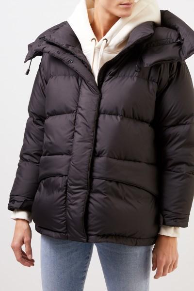 Aspesi Down jacket with hood Black