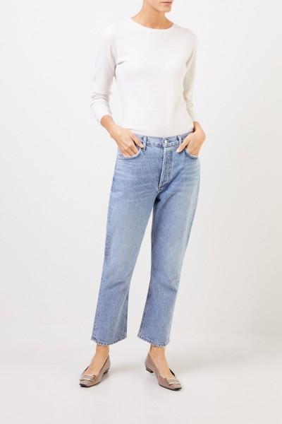 Uzwei Cashmere-Pullover mit R-Neck Weiß