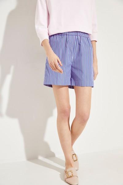 Gestreifte Baumwoll-Shorts Multi