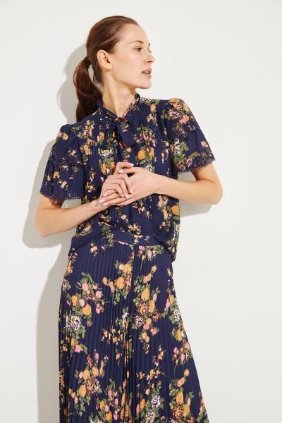 Bluse mit Print Blau/Multi