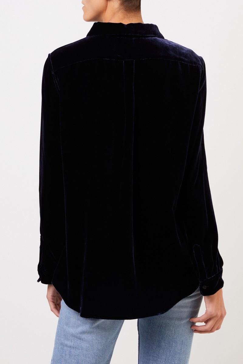 Aspesi Velvet blouse Navy Blue