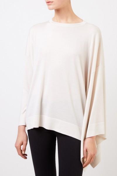 Fabiana Filippi Asymmetrischer Woll-Seiden-Pullover Crème