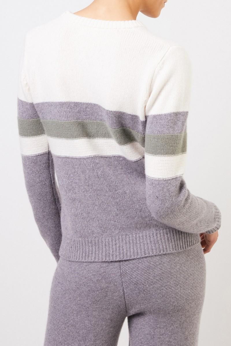 Uzwei Cashmere-Pullover in Colorblock Multi/Salbei