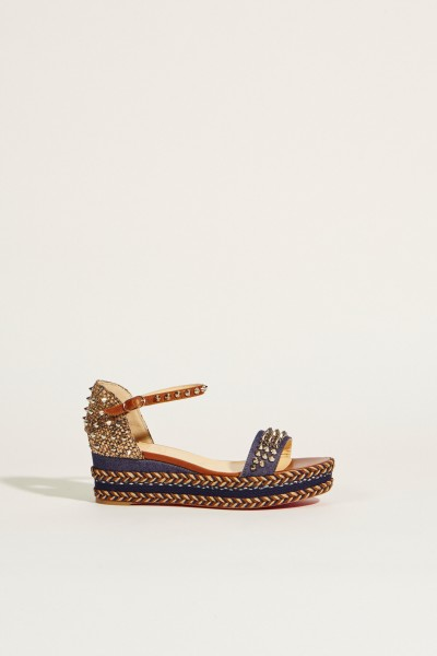 Wedges 'Madmonica 60' with studs blue
