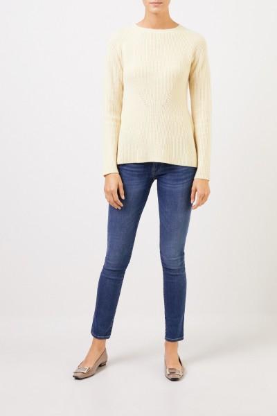 UZWEI Cashmere-Pullover mit Strickdetail Hellgelb
