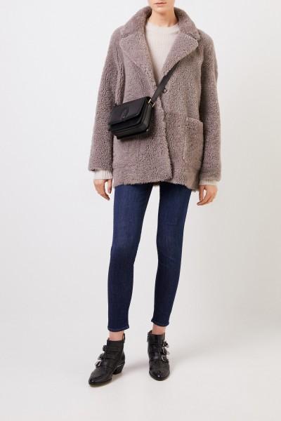 Benedetta Novi Reversible lambskin jacket 'Amanda' Brown