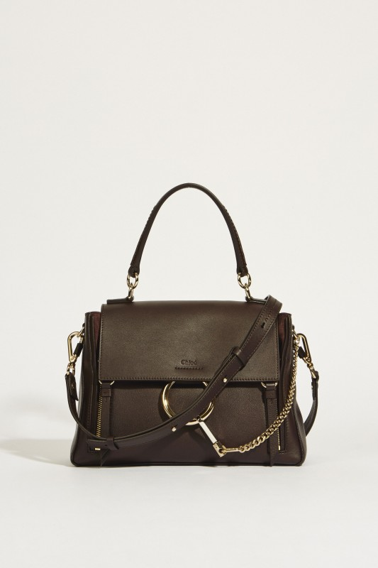 Umhängetasche 'Faye Day Small' Carbon Brown