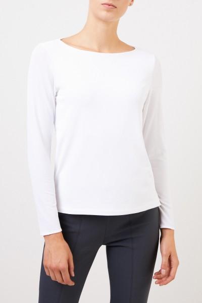 Kimmich Trikot Klassisches Langarmshirt Weiß