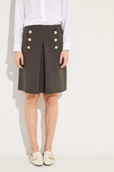 Short skirt 'Saily' with buttons Green