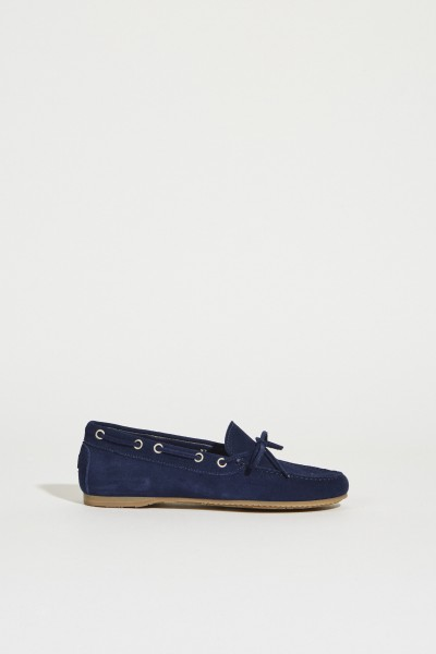 Moccasin with bow Blue