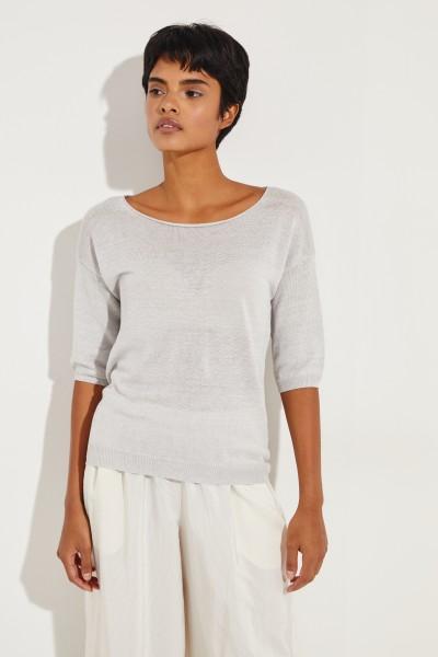 Leinen-Shirt 'Salvador' Grau