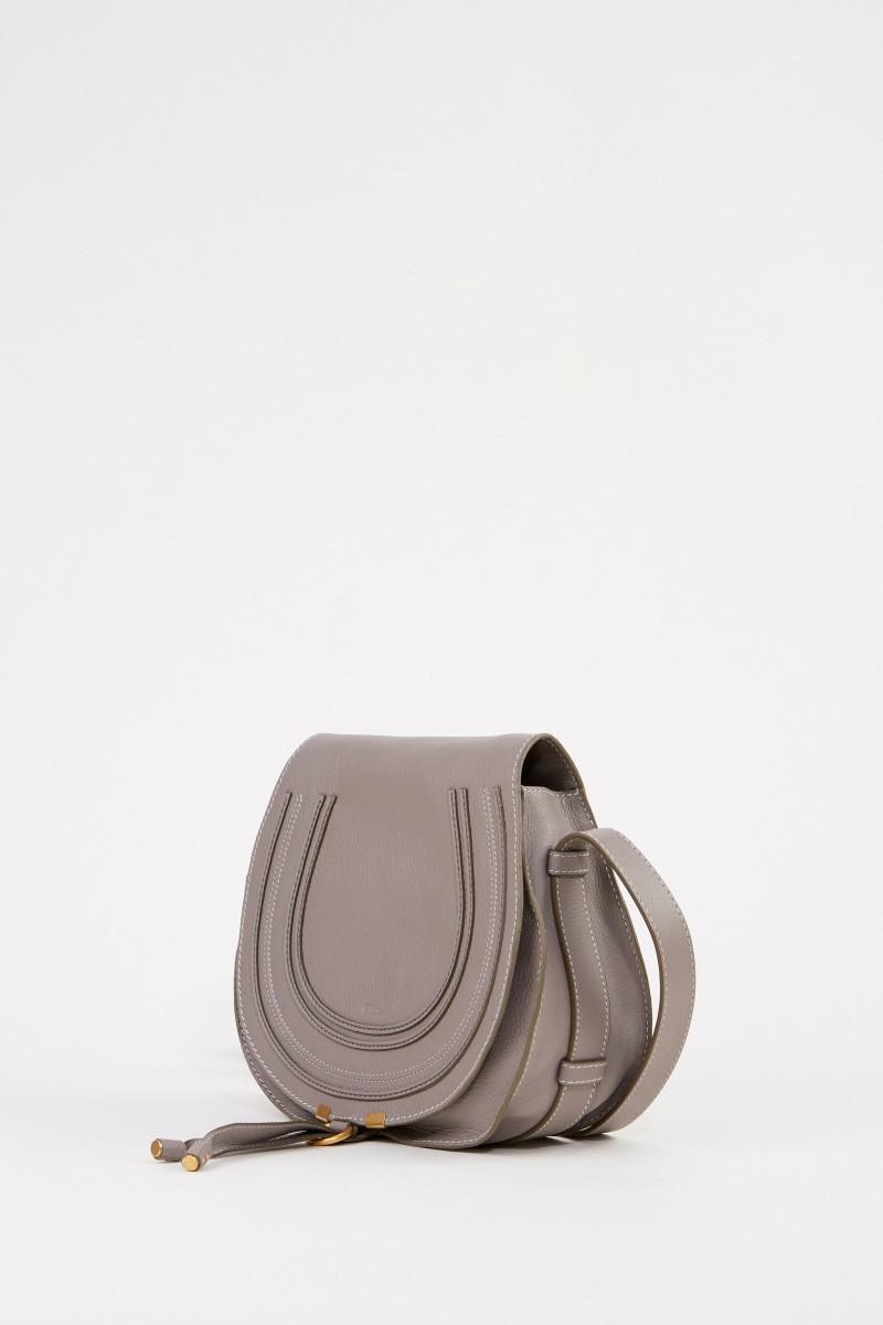 Chloé Umhängetasche 'Marcie Saddle Medium' Cashmere Grey
