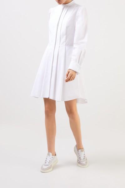 Alexander McQueen Hemdblusen-Kleid mit R-Neck Weiß