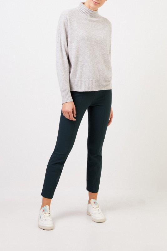 Allude Woll-Cashmere-Pullover mit Turtleneck Grau