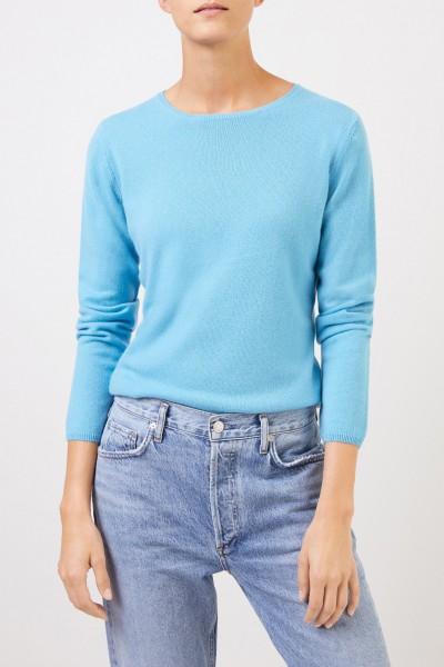 Uzwei Cashmere-Pullover mit R-Neck Hellblau