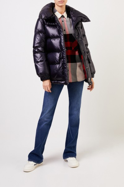 Down jacket with shine Navy Blue